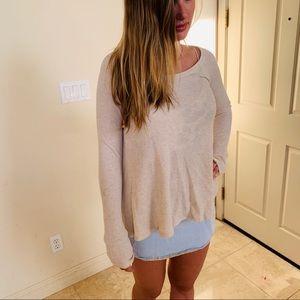 2x$20 Free people cream thermal light sweater top